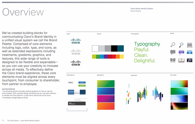 22 Brand Style Guide Examples for Visual Inspiration style cisco 01