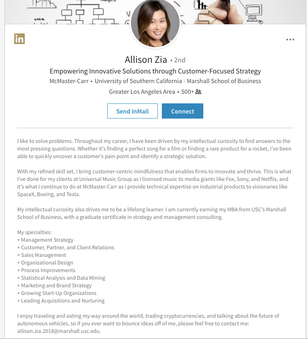 7 creative linkedin summary examples to help you craft your own page