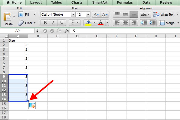 How to copy formula in Excel