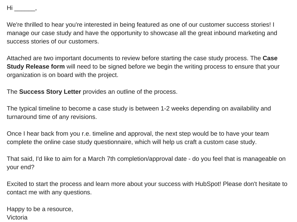 marketing email format