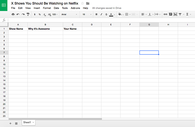 Google doc screenshot