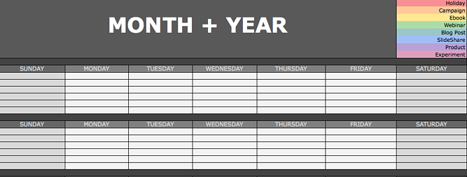Free Microsoft Excel Templates To Make Marketing Easier - Hubspot content calendar template
