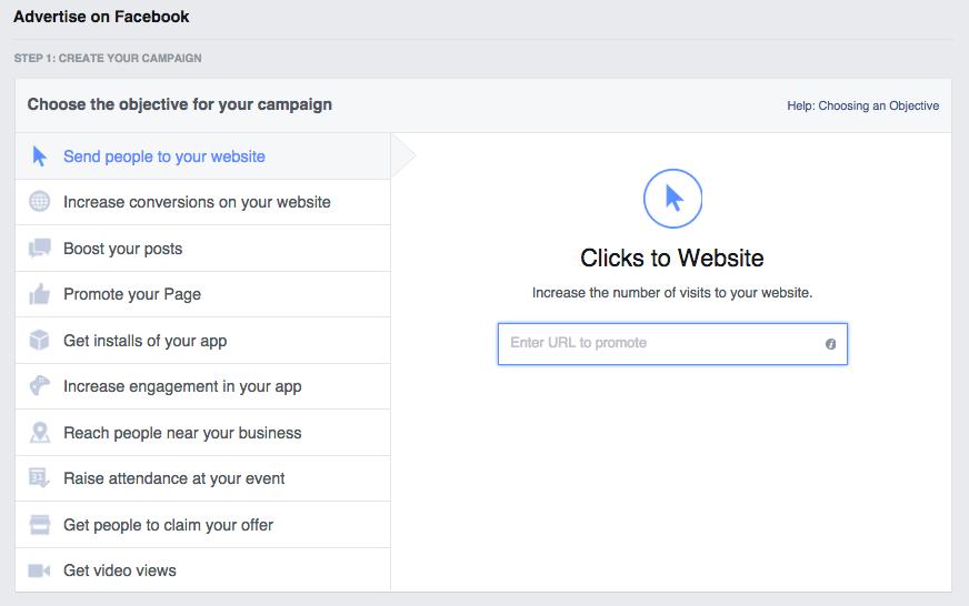 استهداف اعلان الفيس بوك