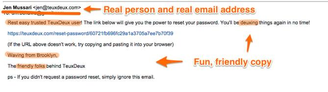TeuxDeux's password reset email