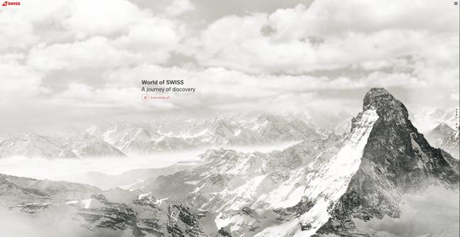 Página de inicio de World of SWISS, Los mejores diseños de páginas web 2021