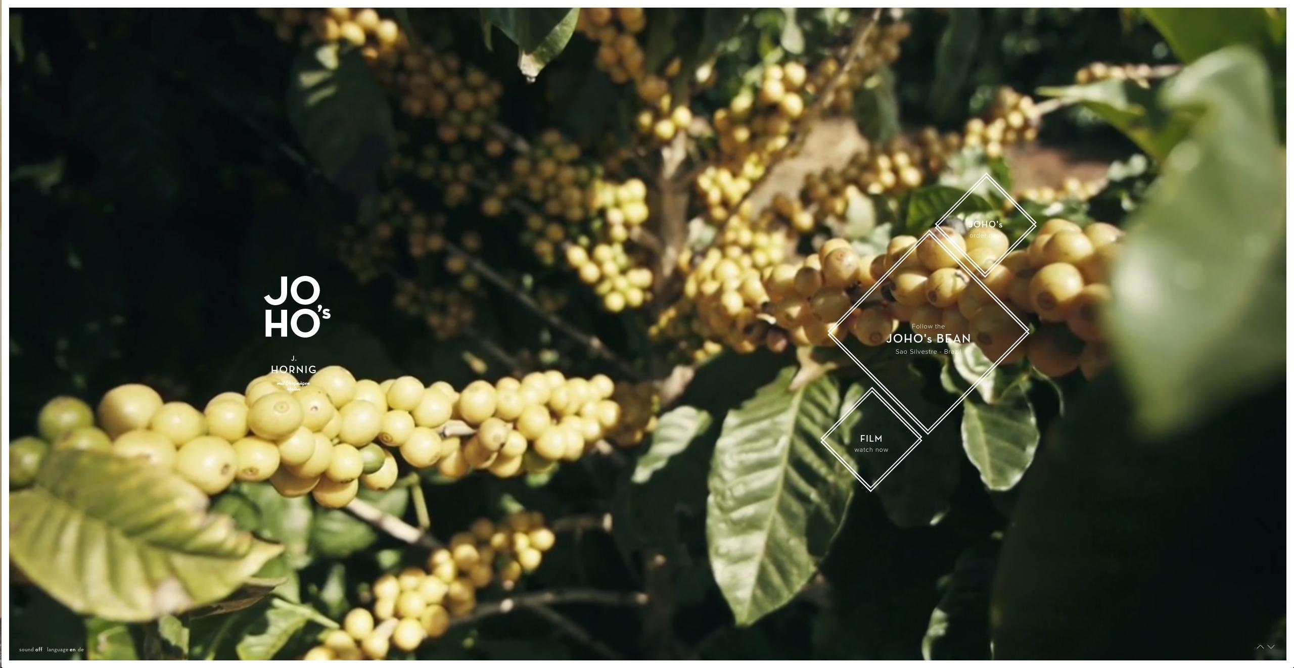 Homepage of JOHO's Bean, an award-winning website