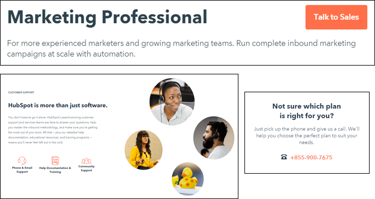 sales-feedback.png  How HubSpot's Pricing Page Redesign Increased MQL Conversions by 165% & Free Sign-Ups by 89% sales feedback
