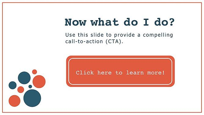 cta slide in hubspot powerpoint template