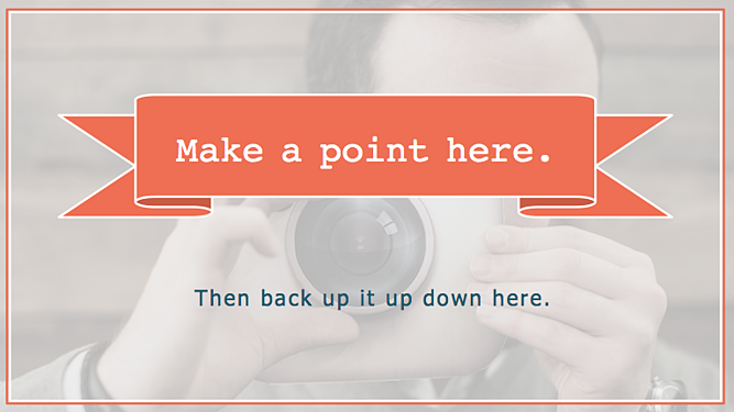 Support the point slide using the Hubspot PowerPoint template