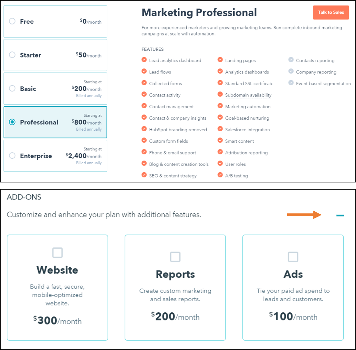 user-testing-changes-1.png  How HubSpot's Pricing Page Redesign Increased MQL Conversions by 165% & Free Sign-Ups by 89% user testing changes 1