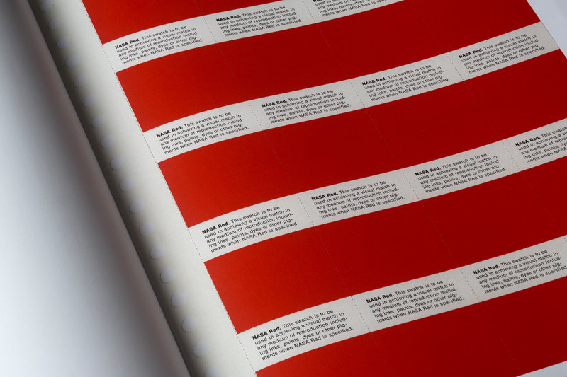 Red color palette of the NASA brand style guide