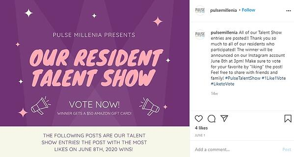 1 like 1 vote instagram contest by pulse millenia: