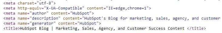 an example of meta tags in code