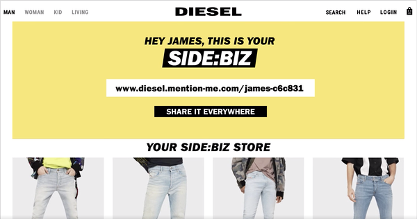 Diesel Side:Biz Virtual Store from Diesel's Clio Winning Be a Follower Campaign