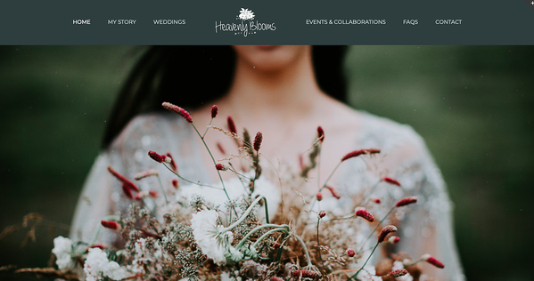 Heavenly Blooms homepage - avada theme example