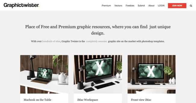 Graphictwiter homepage - avada website example