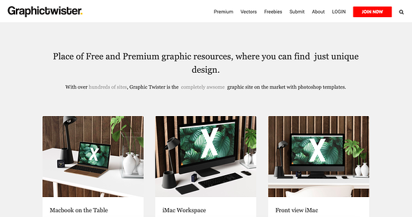 Graphictwiter homepage - avada website example