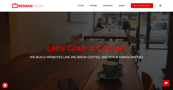 RedBag Media website with parallax scrolling - avada theme example