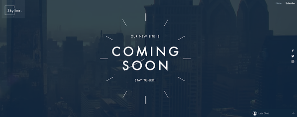 Skyline Landing Page Template from Wix