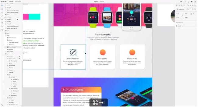 免费的网页设计工具 Adobe XD 编辑器