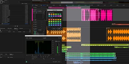 Adobe Audition editing software for podcasts.