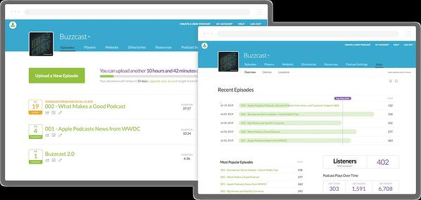 BuzzSprout is a podcasting hosting service.