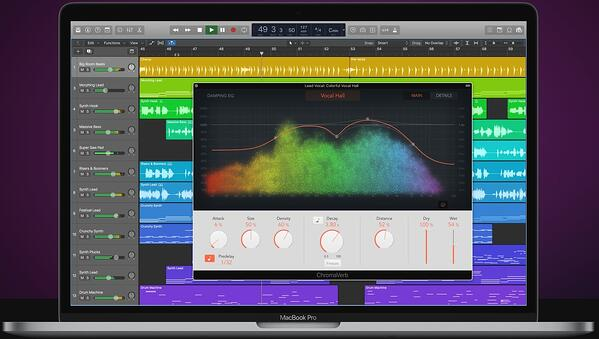 Logic Pro editing software for podcasts.