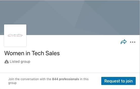 Women in Tech Sales LinkedIn Group
