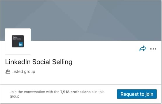 LinkedIn Social Selling LinkedIn Group