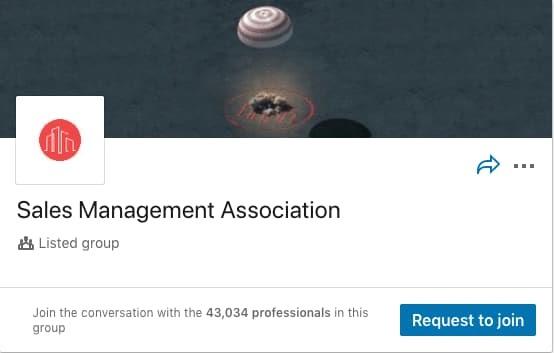Sales Management Association LinkedIn Group