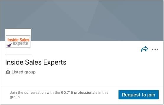 Inside Sales Experts LinkedIn Group