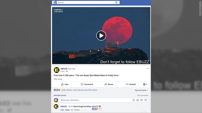 Facebook Says It's Fixing the Fake News Problem, but This Fake Video Got 16 Million Views 180131111631 facebook supermoon video