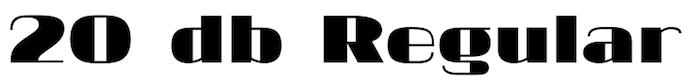 20-db-regular-modern-font