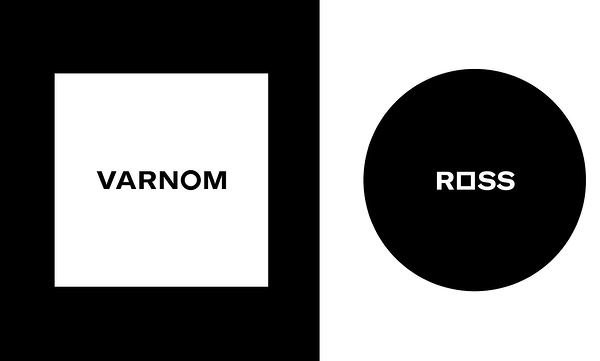 minimalist logo design with monochrome and geometric shapes