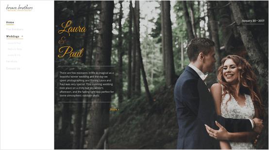 Wedding site built with IONOS website builder