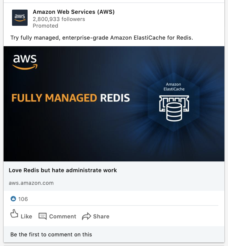 Amazon ad based on Facebook