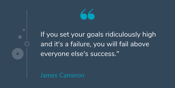 01c42a91c0 James Cameron famous quote about success that says If you set your goals  ridiculously high and