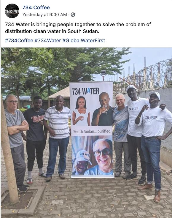 social entrepreneurship example: 734 coffee clean water entrepreneurship