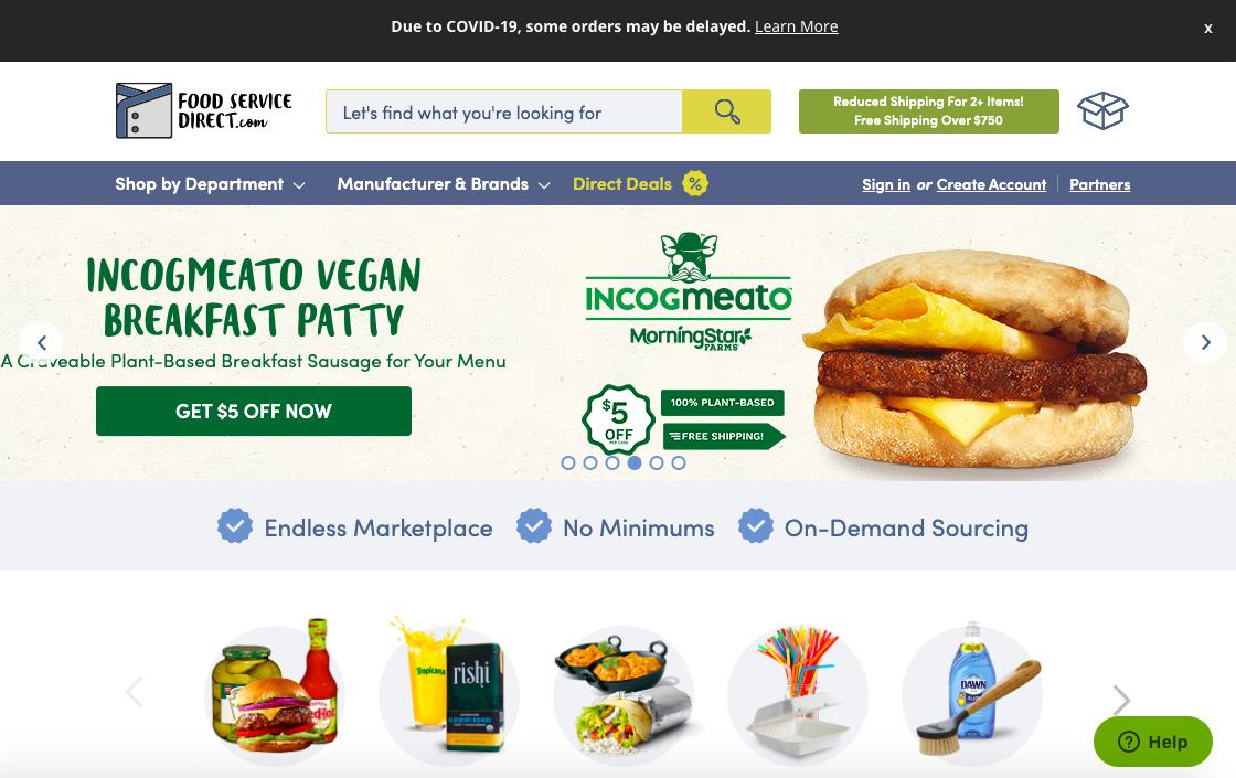 food delivery website built on drupal alternative magento