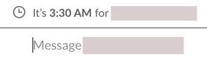timezone warnings on Slack