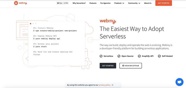 Webiny's own site is powered by the powerful Wix alternative