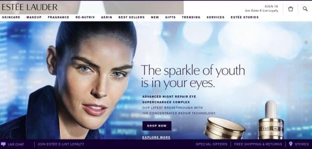 Estee Lauder LMS is a drupal website example