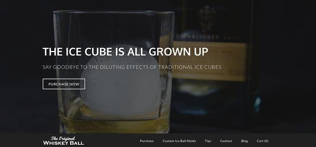 The Whiskey Ball website is powered by Weebly