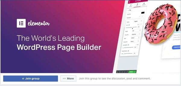 best facebook groups: elementor