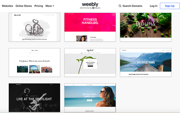 Weebly free blogging themes