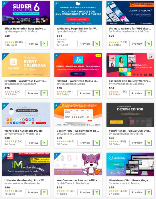 premium WordPress plugins in codecanyon marketplace