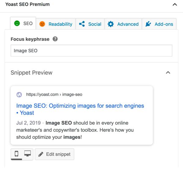 Yoast SEO premium plugin settings