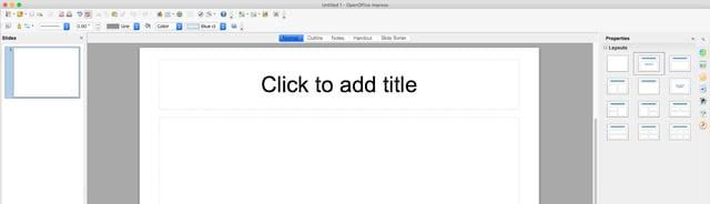 Apache OpenOffice Presentation feature