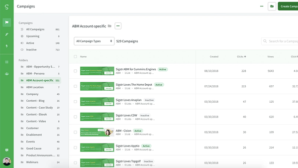 Screenshot of Sigstr integration in HubSpot