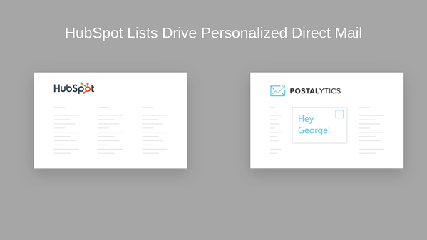 Screenshot of Postaltyics integration in HubSpot